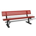 PVC COATED BENCH W/BACK -6 SURF MNT-SPEC COLOR