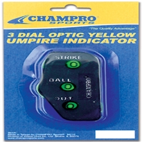 Umpire Indicator Trad. 3 Dial Optic Yellow