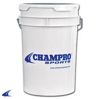 Clear Ball Bucket With Foam on Lid