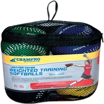 Striped Training SoftballSet - 2 BallSet in Clam Shell