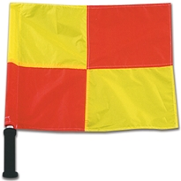 Deluxe Linesman Flags With Foam Grips (Set of 2)