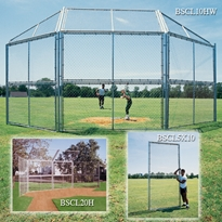 10 Chainlink Backstop w/ Hood & Wings