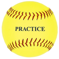 "12"" Yellow Practice Softball"