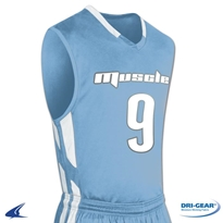Muscle DRI-GEAR Basketball Jersey - Youth (Home) Basketball Jersey, Youth Basketball Jersey, Muscle Basketball Jersey, Basketball Uniform