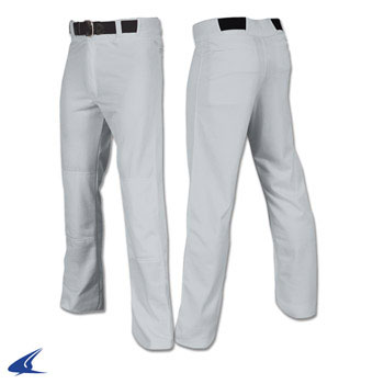 Open Bottom Relaxed Fit Baseball Pant - Adult Relaxed Fit baseball pant, open bottom baseball pant, baseball uniforms, baseball pants