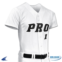 Adult Pro Mesh Two Button Placket Jersey