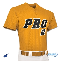 Youth Pro Mesh Two Button Placket Jersey