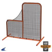 Brute Batting Cage Pitcher Safety Screen - 7 x 7 Pitcher Safety Screen, L Screen, Pitcher L Screen, Baseball Pitching Screen, Pitching Safety Screen, Batting Practice Screen