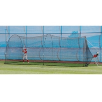 PowerAlley Home Run Batting Cage - 22 FT Batting Cage, Heater Sports, Collapsible Batting Cage, Batting Tunnel, Indoor Batting Cage