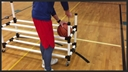 Power Dribble Ball Cart with Built-In Air Pump Basketball Storage, Storage Rack, Ball Rack, Rack with Air Pump